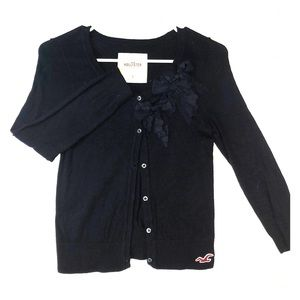 Hollister navy blue cardigan.